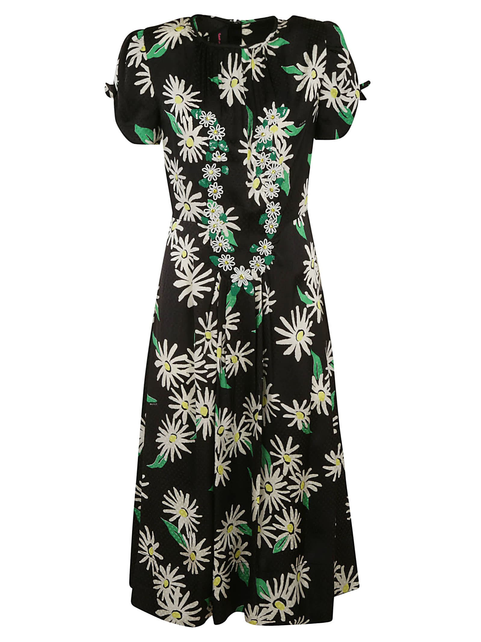 Buy Marc Jacobs Long Floral Print Dress online, shop Marc Jacobs with free shipping