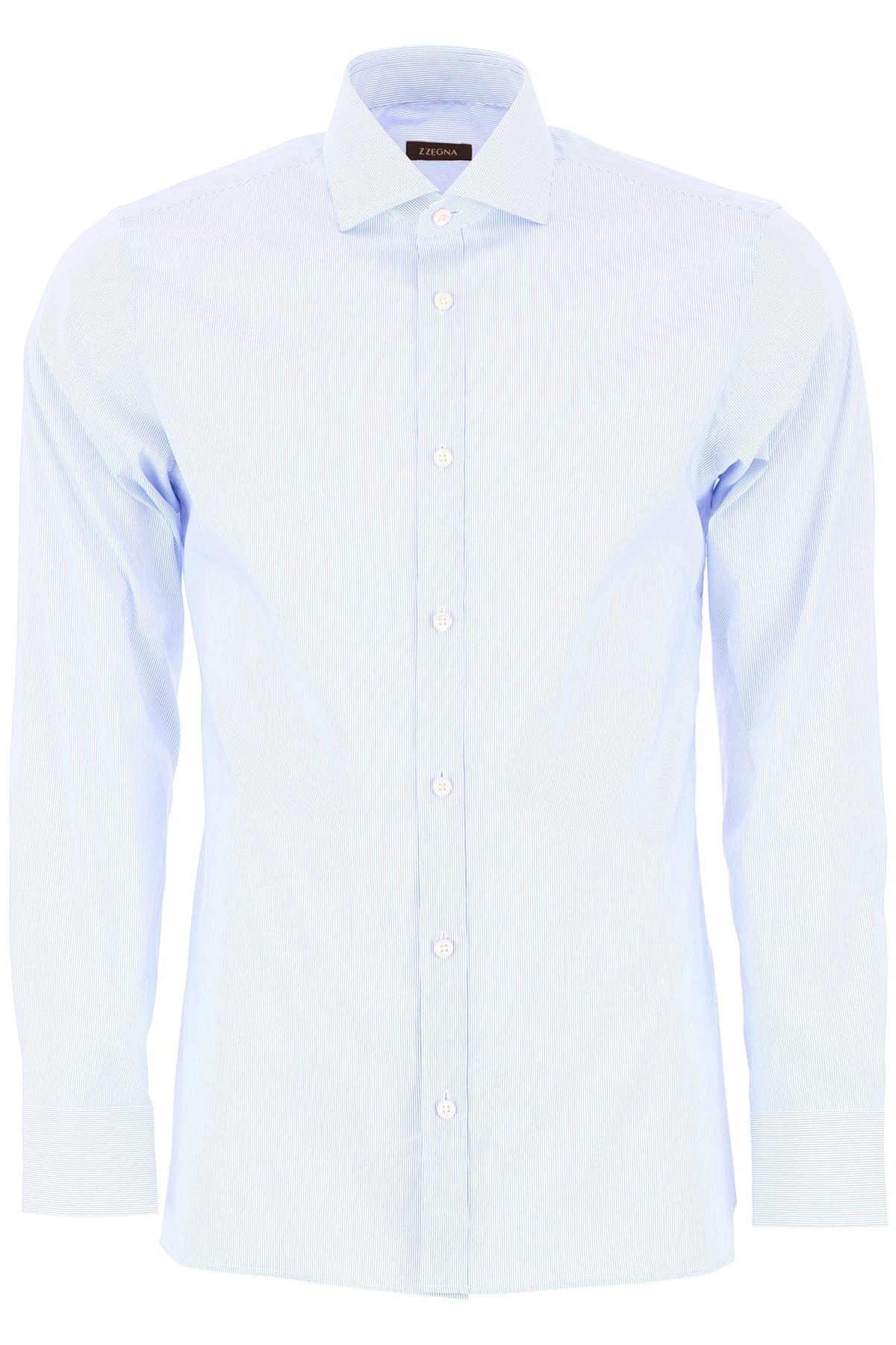 Z Zegna Striped Cotton Shirt