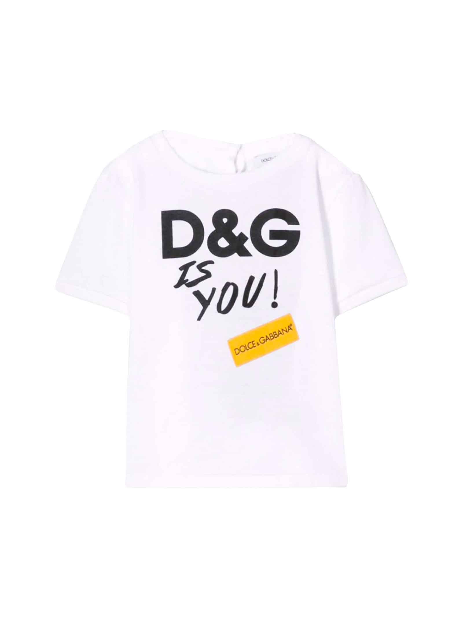 magasin d'usine fc183 0bf1f Best price on the market at italist | Dolce & Gabbana Dolce & Gabbana White  Dolce E Gabbana Kids T-shirt