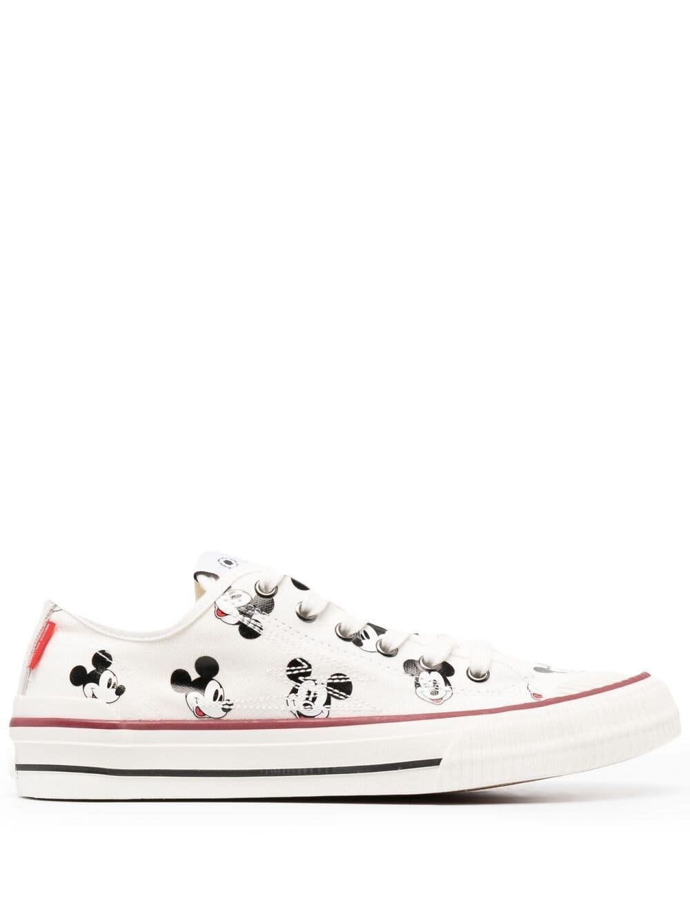 M.O.A. master of arts White Canvas Mickey Mouse Sneakers