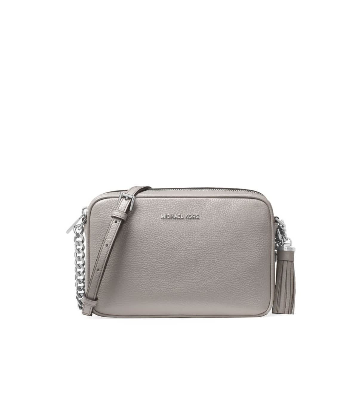 men/man super cute purchase authentic Best price on the market at italist | Michael Kors Michael Kors Ginny Pearl  Grey Medium Crossbody Bag