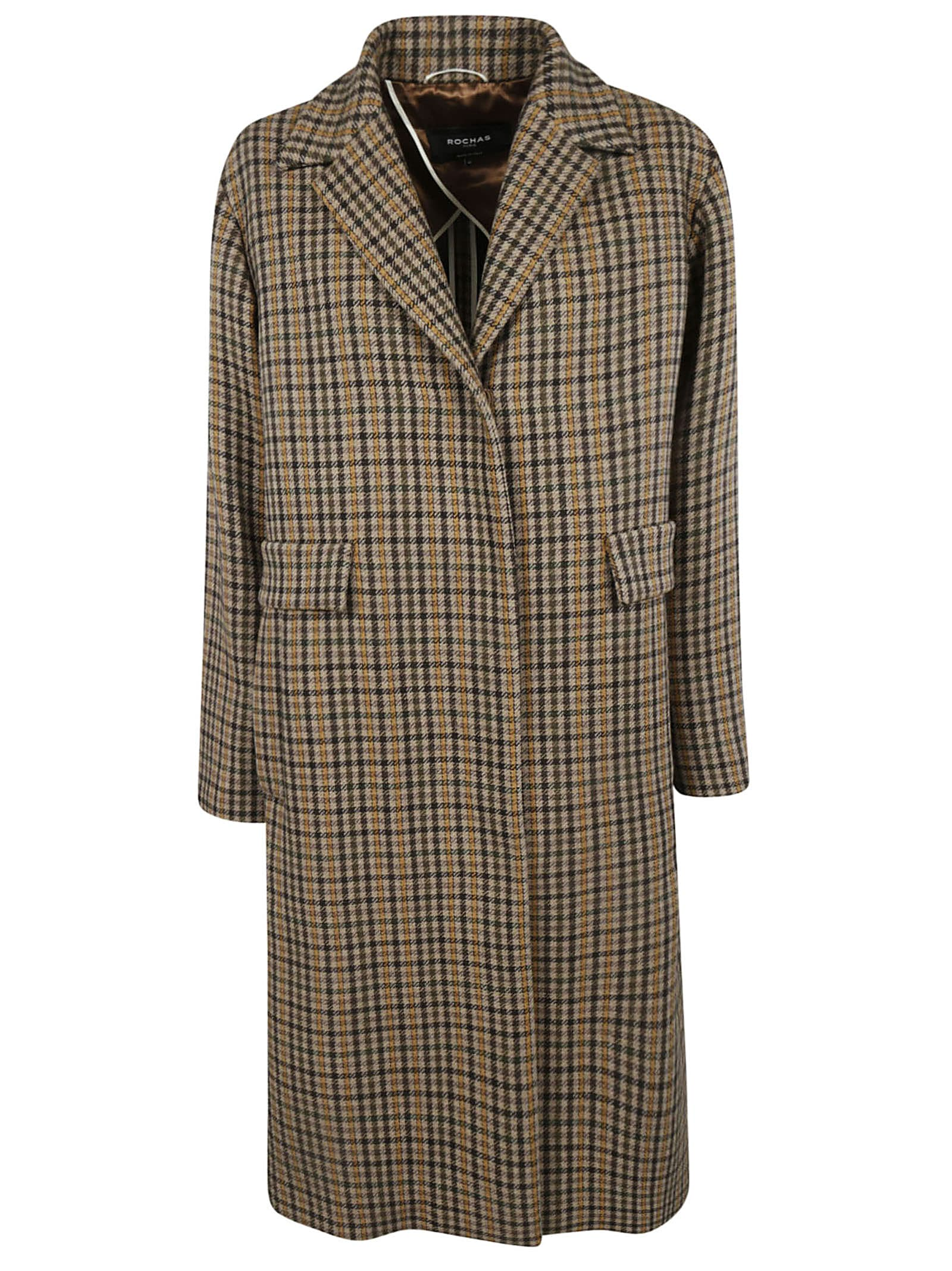 Rochas Oversized Tartan Coat