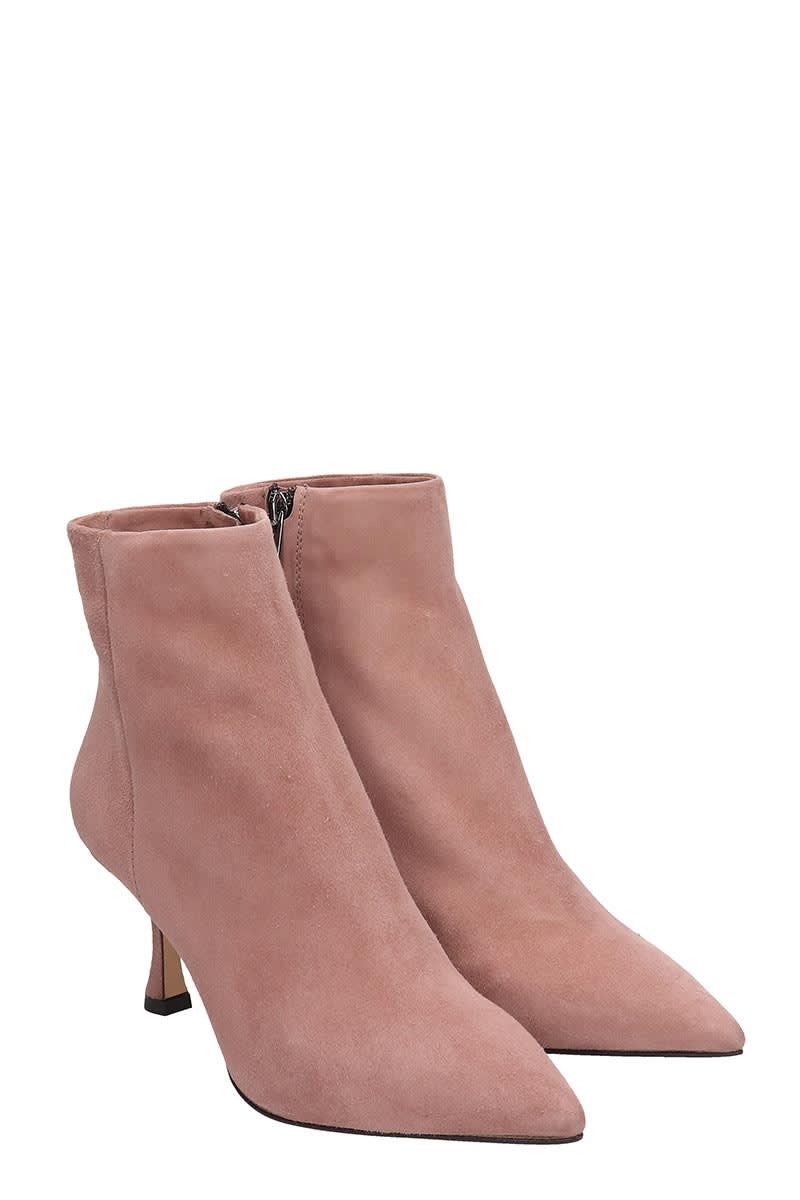 Best price on the market at italist | The Seller The Seller High Heels Ankle Boots In Rose pink Suede