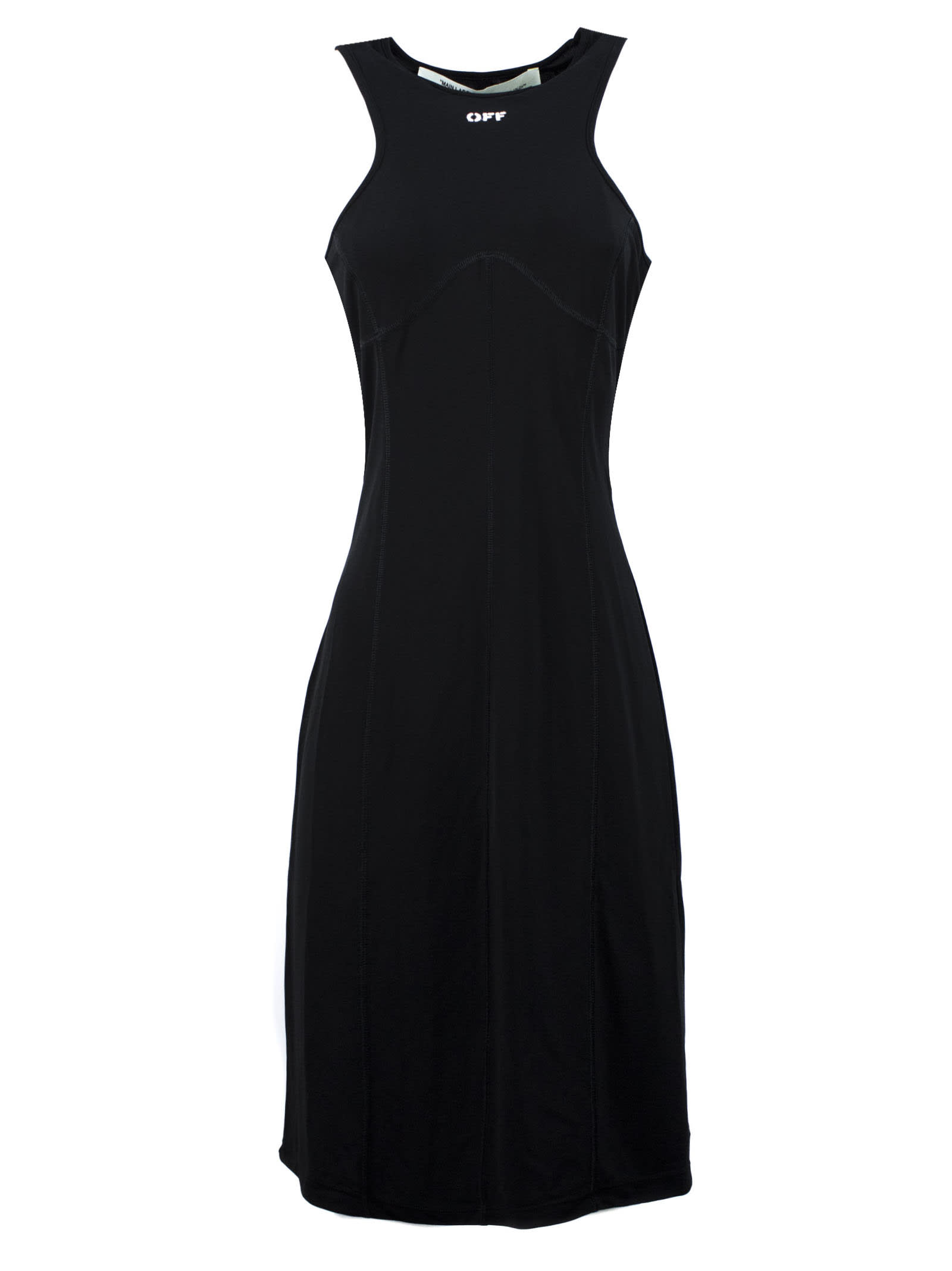 Buy Off-White Sleeveless Dress In Black online, shop Off-White with free shipping