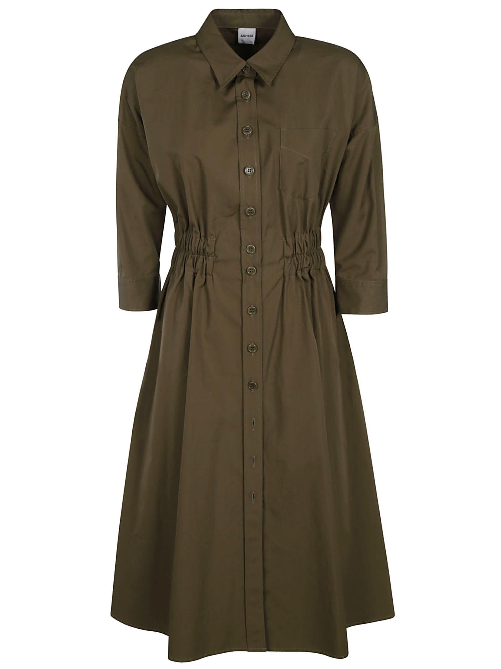 Buy Aspesi Ribbed Waist Shirt Dress online, shop Aspesi with free shipping