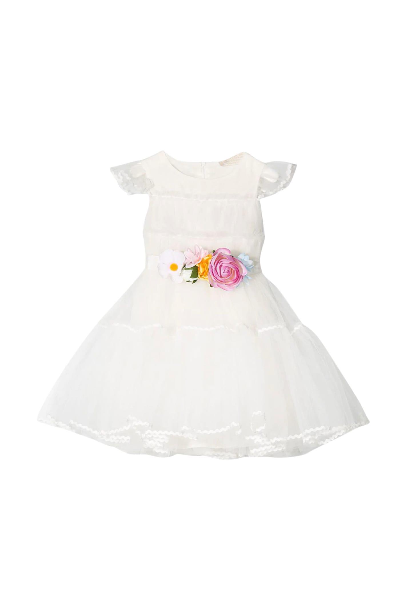 Buy Monnalisa Dress With Belt online, shop Monnalisa with free shipping