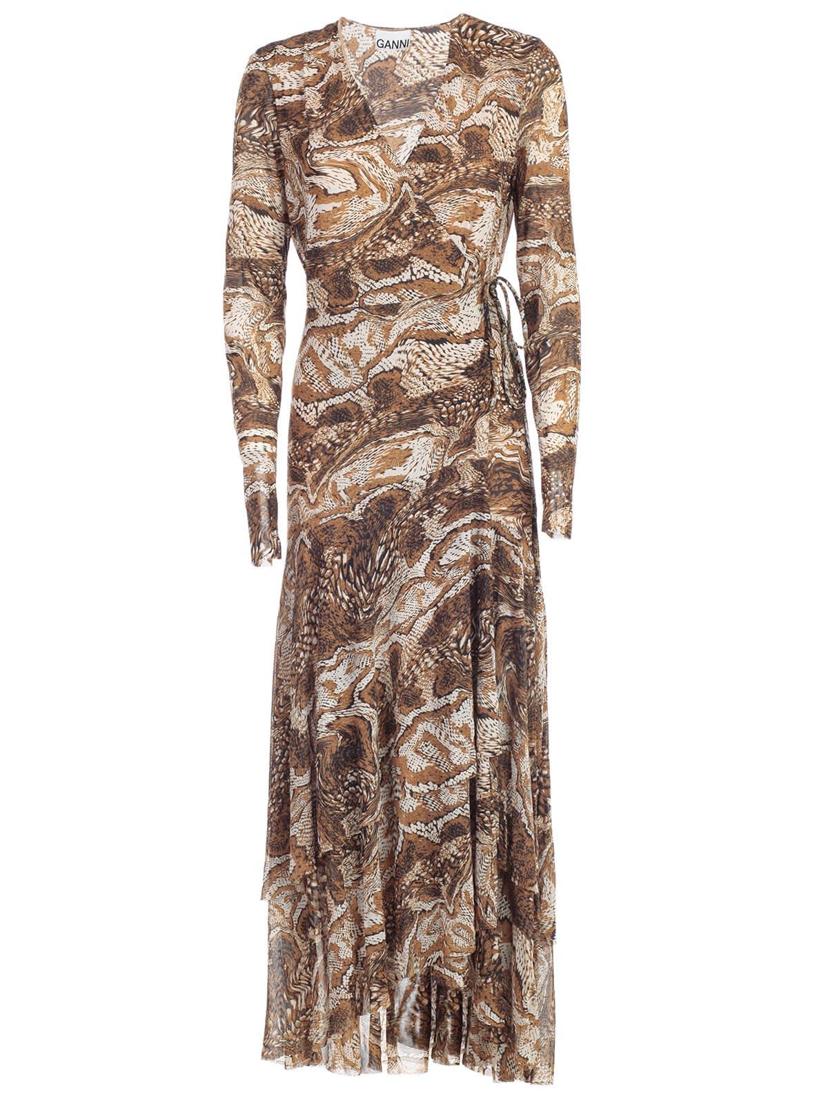 Ganni Dress L & s Double