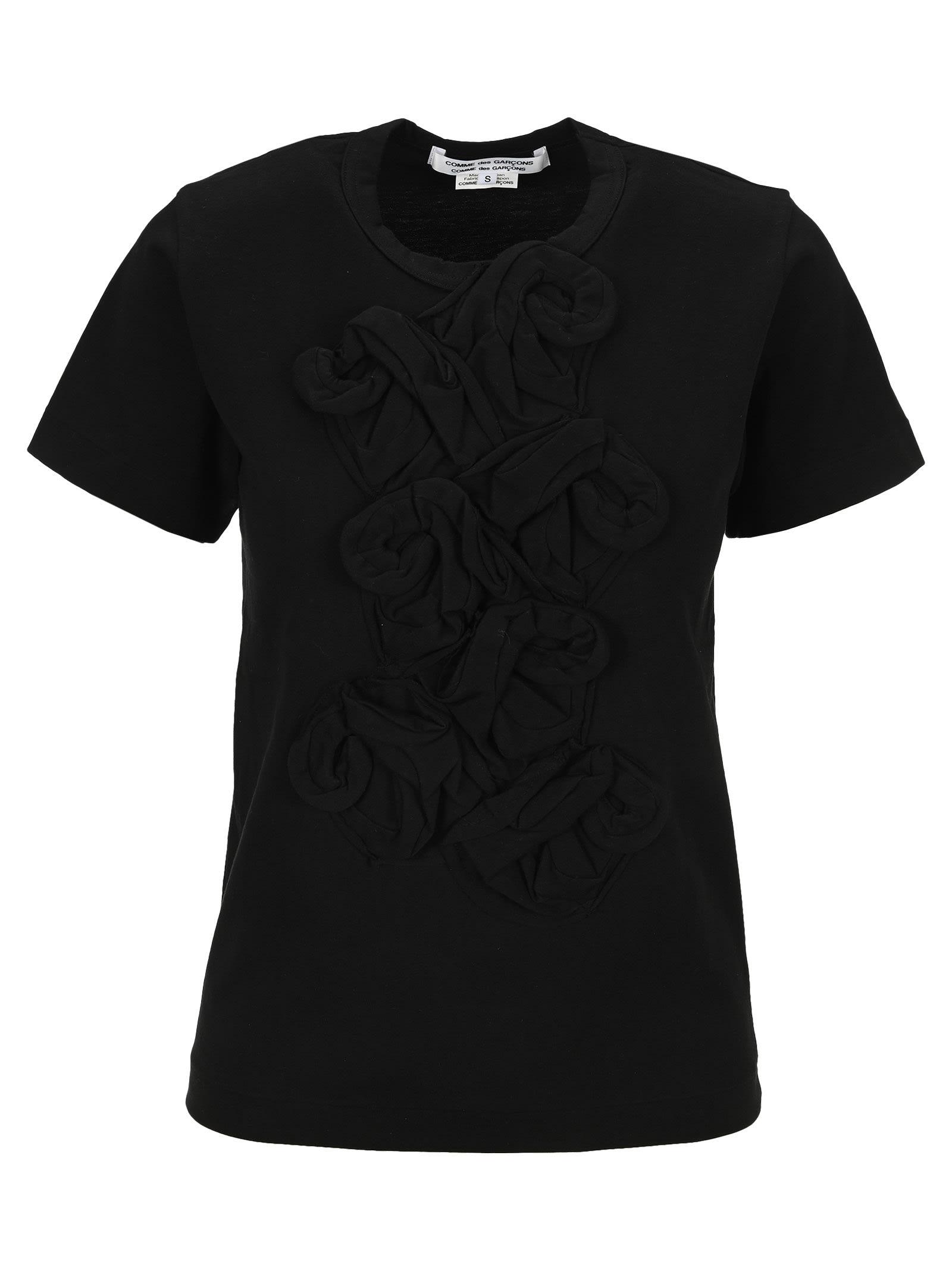 Comme Des Garçons Comme Des Garçons T-shirts COMME DES GARÇONS COMME DES GARÇONS ROSES FLORAL T-SHIRT