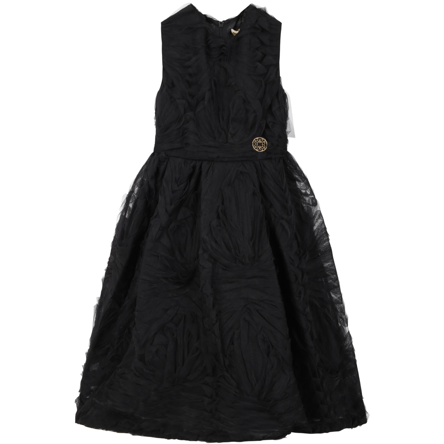 Buy Elie Saab Black Dress For Girl With Iconic Logo online, shop Elie Saab with free shipping