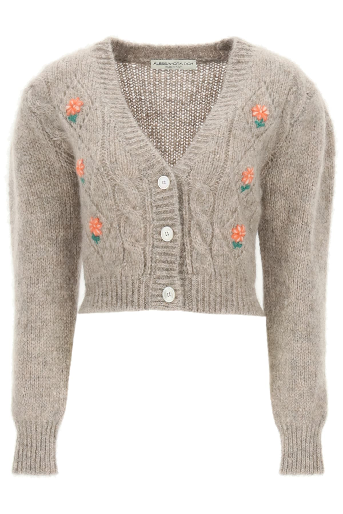 Alessandra Rich SHORT CARDIGAN WITH EMBROIDERIES