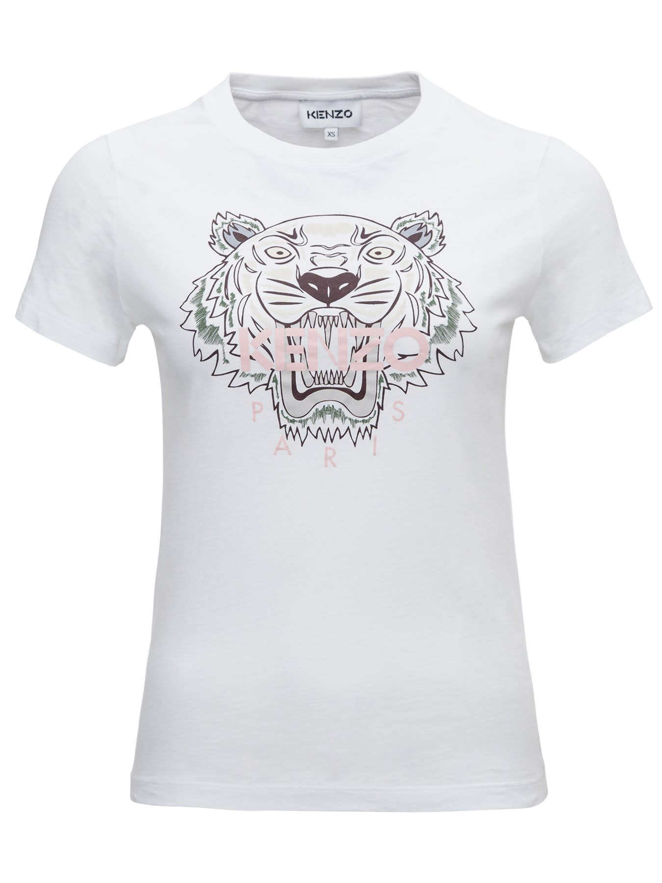 Kenzo Tiger Tee In White