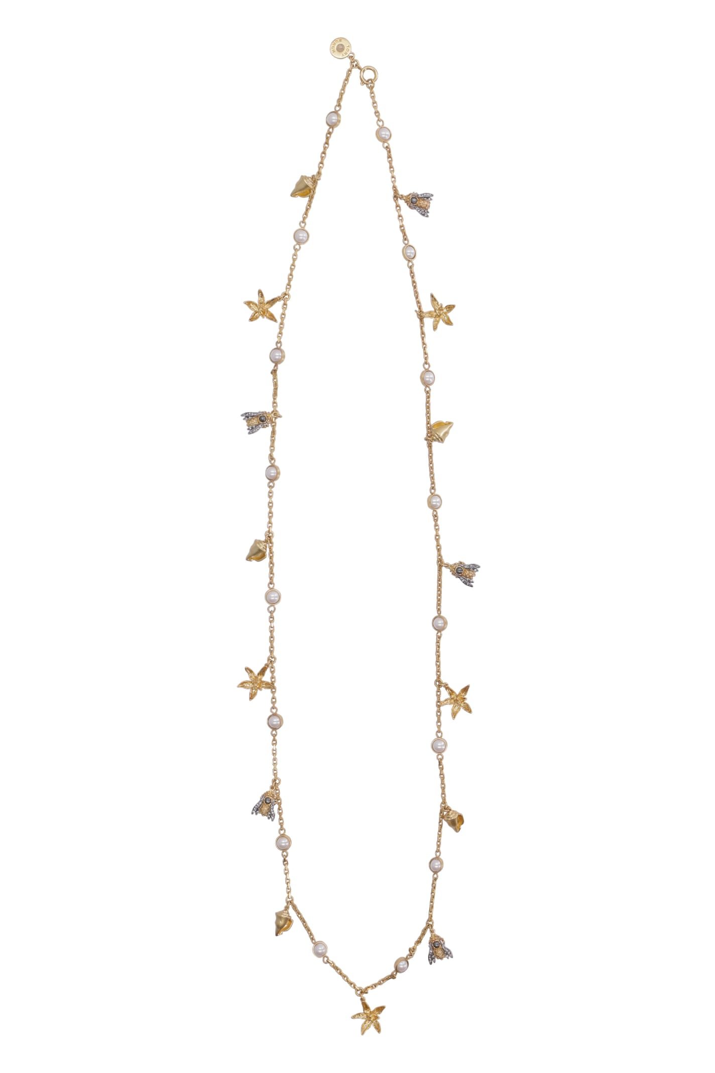 Tory Burch Long Necklace With Decorative Charms