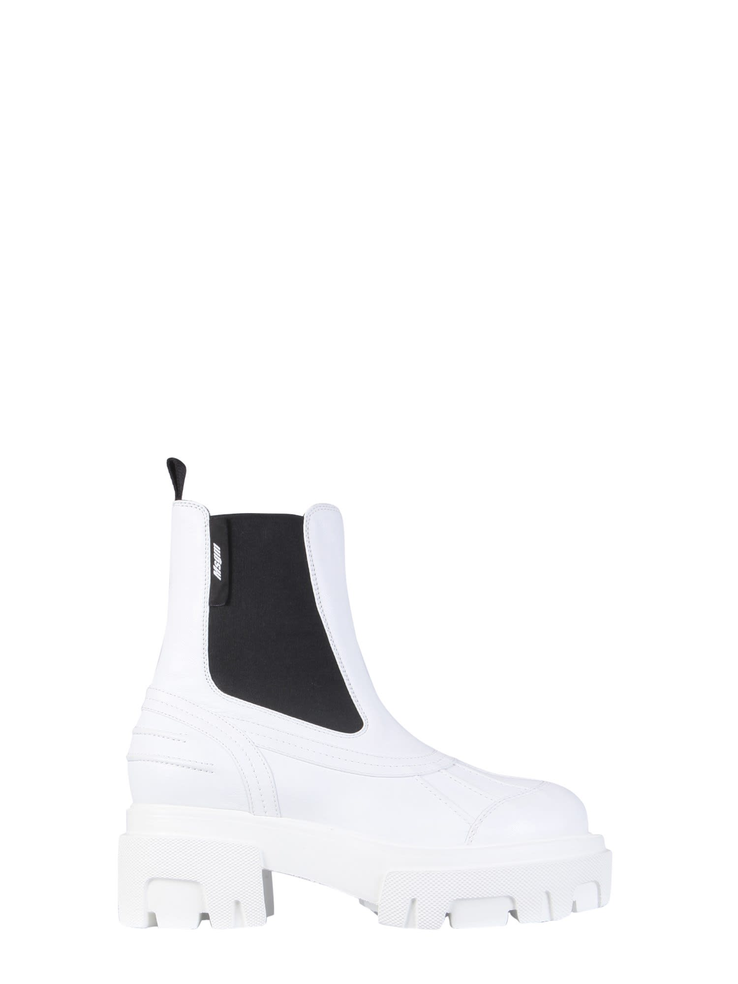 Msgm LEATHER BOOTS