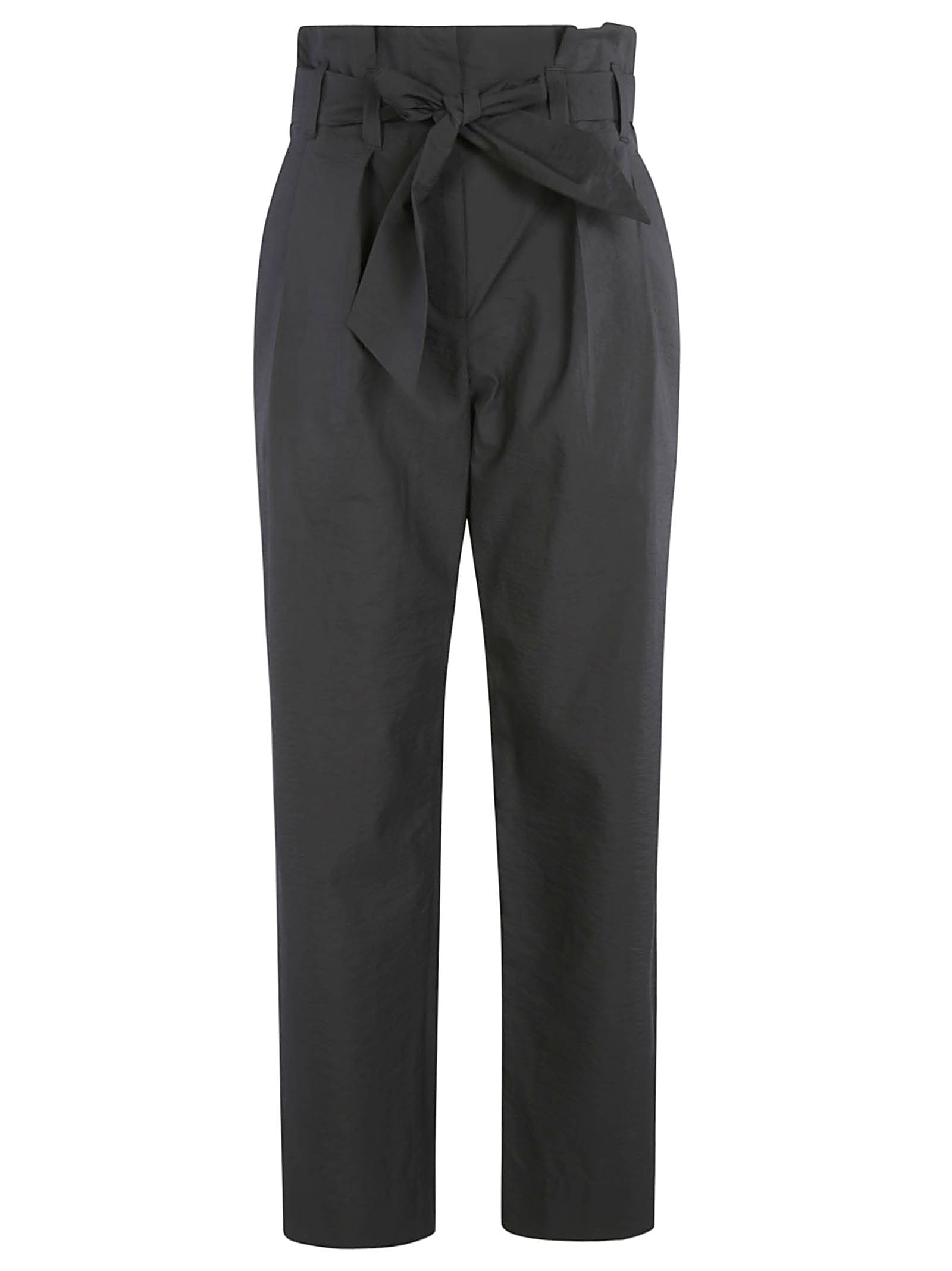 Brunello Cucinelli HIGH-WAIST CROPPED TROUSERS