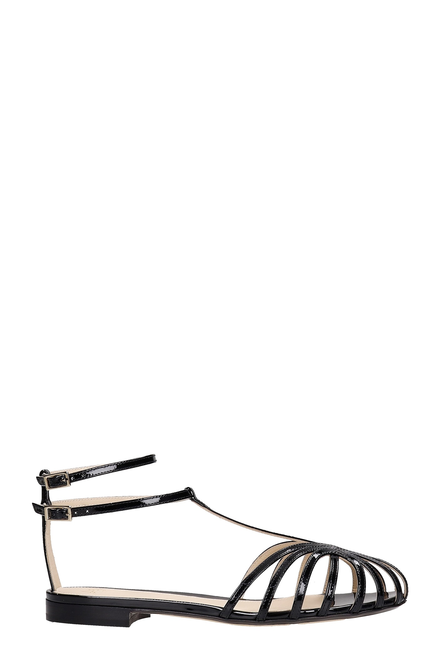 Alevì Leathers ELENA 10 FLATS IN BLACK PATENT LEATHER