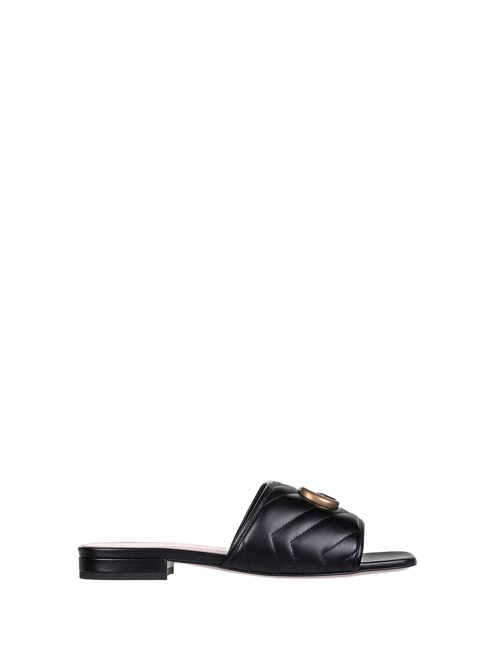 Buy Gucci Double G Black Sandal online, shop Gucci shoes with free shipping