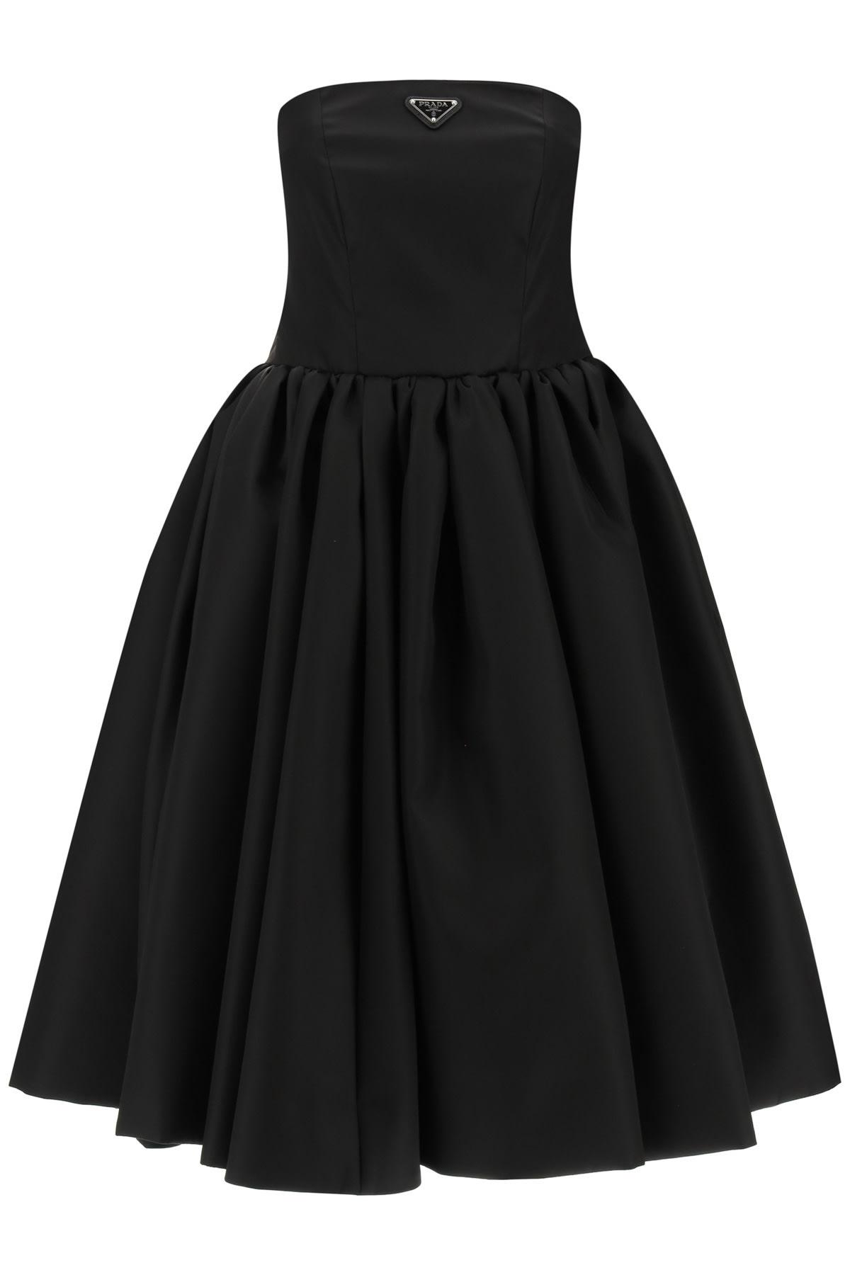 Prada Re-nylon Gabardine Bustier Dress