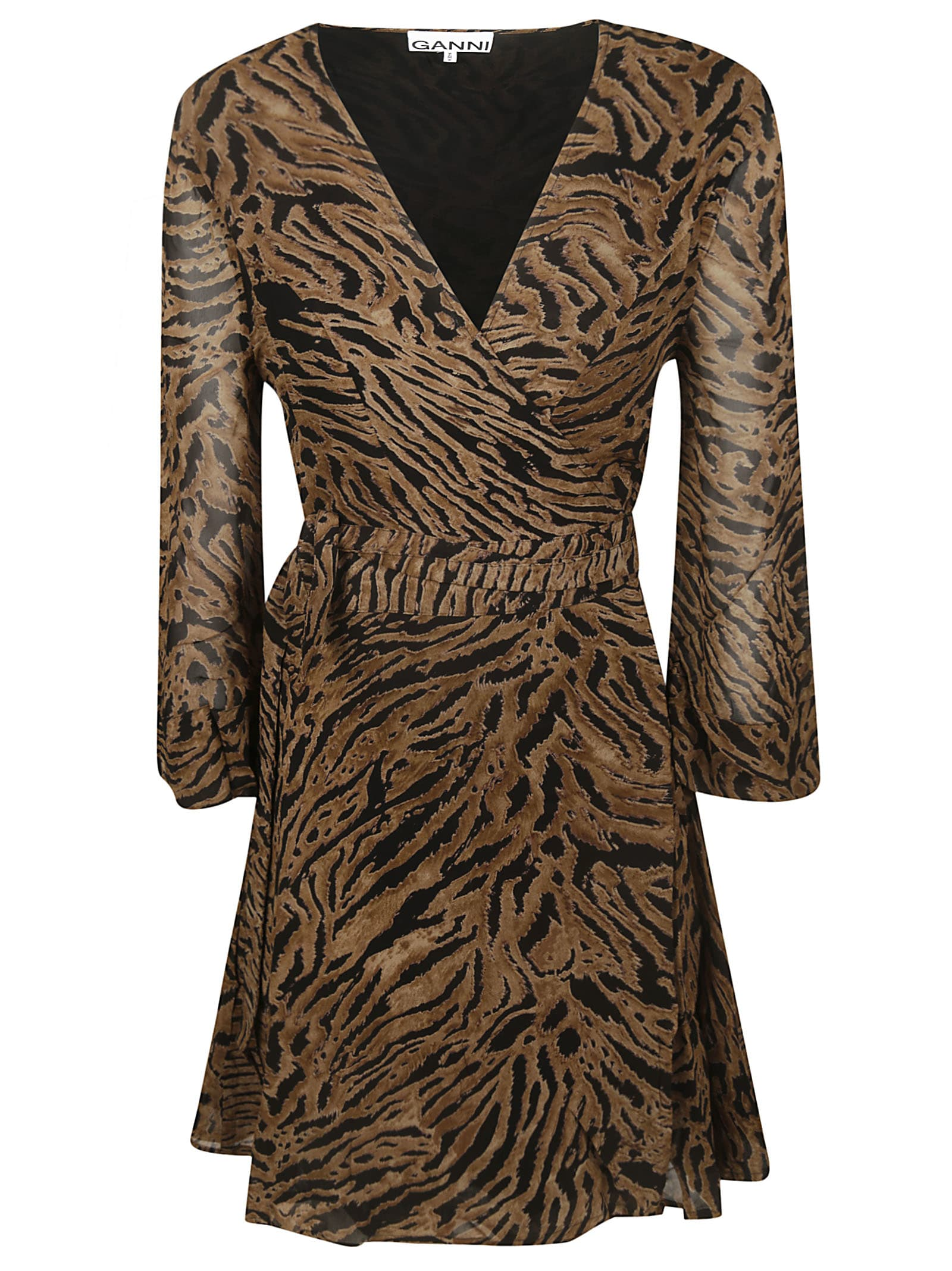 Ganni Animal Print Dress