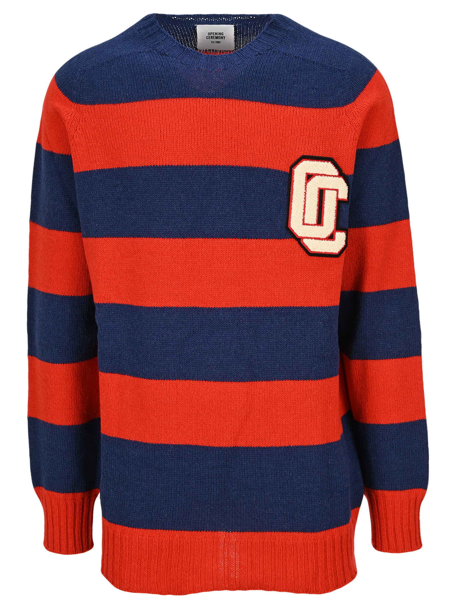 Opening Ceremony Logo Patch Striped Jumper