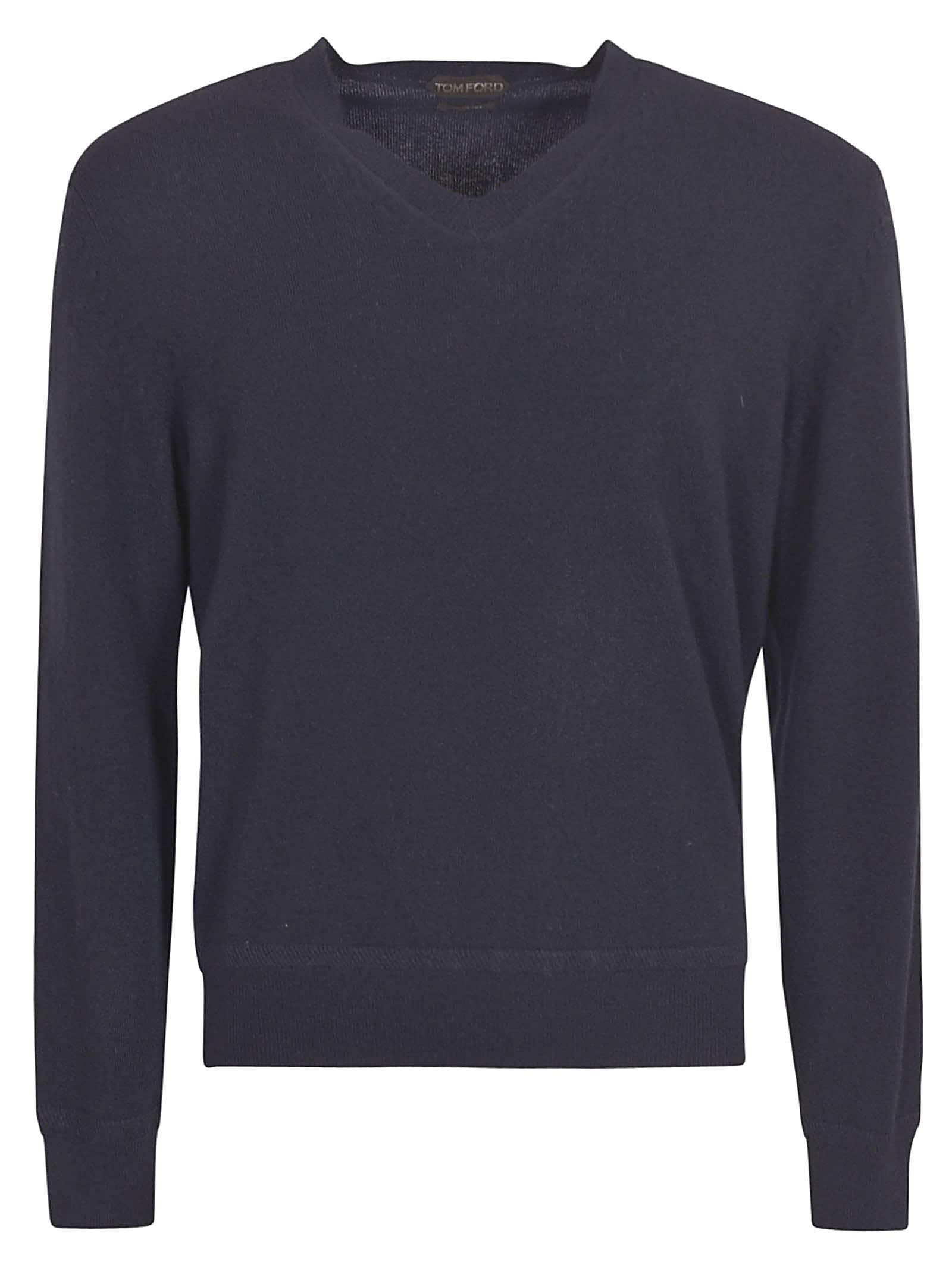 Tom Ford V-neck Sweater In Blue