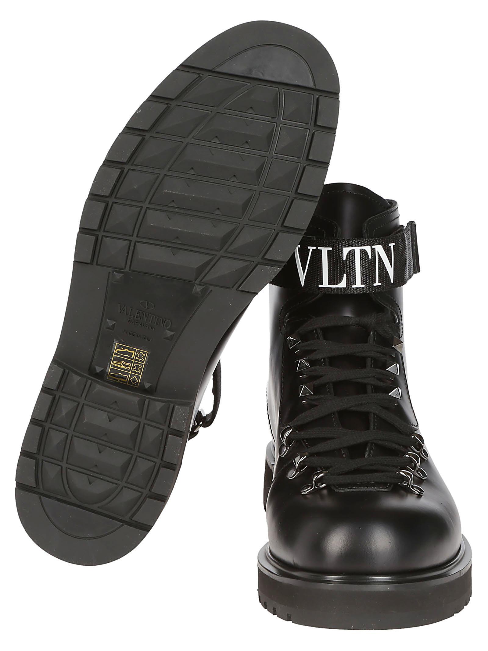89df97b2e5a Valentino Garavani Valentino Garavani Vltn Lace-up Boots - Black ...