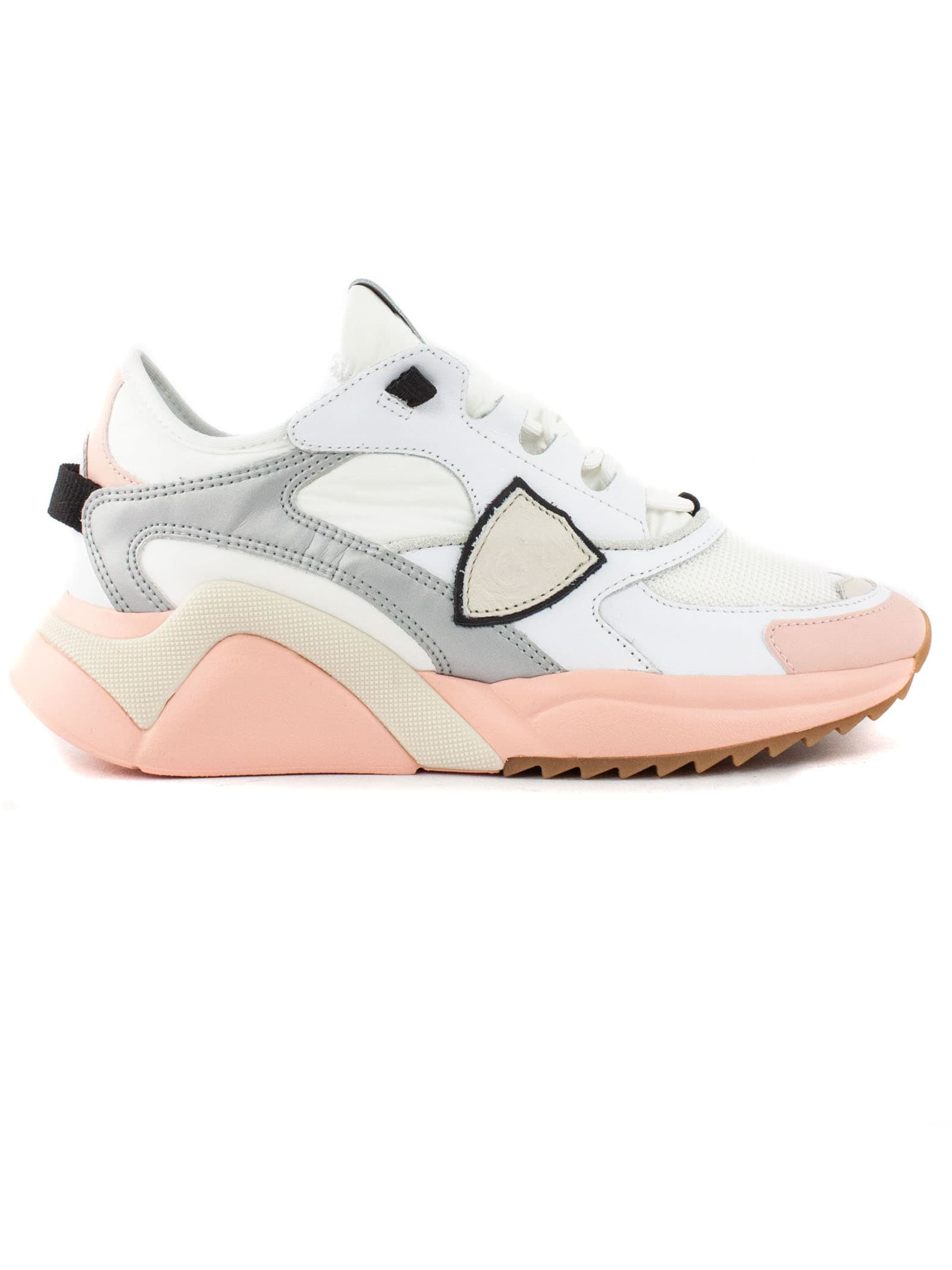 Philippe Model Suedes WHITE AND PINK EZE MONDIAL SNEAKERS