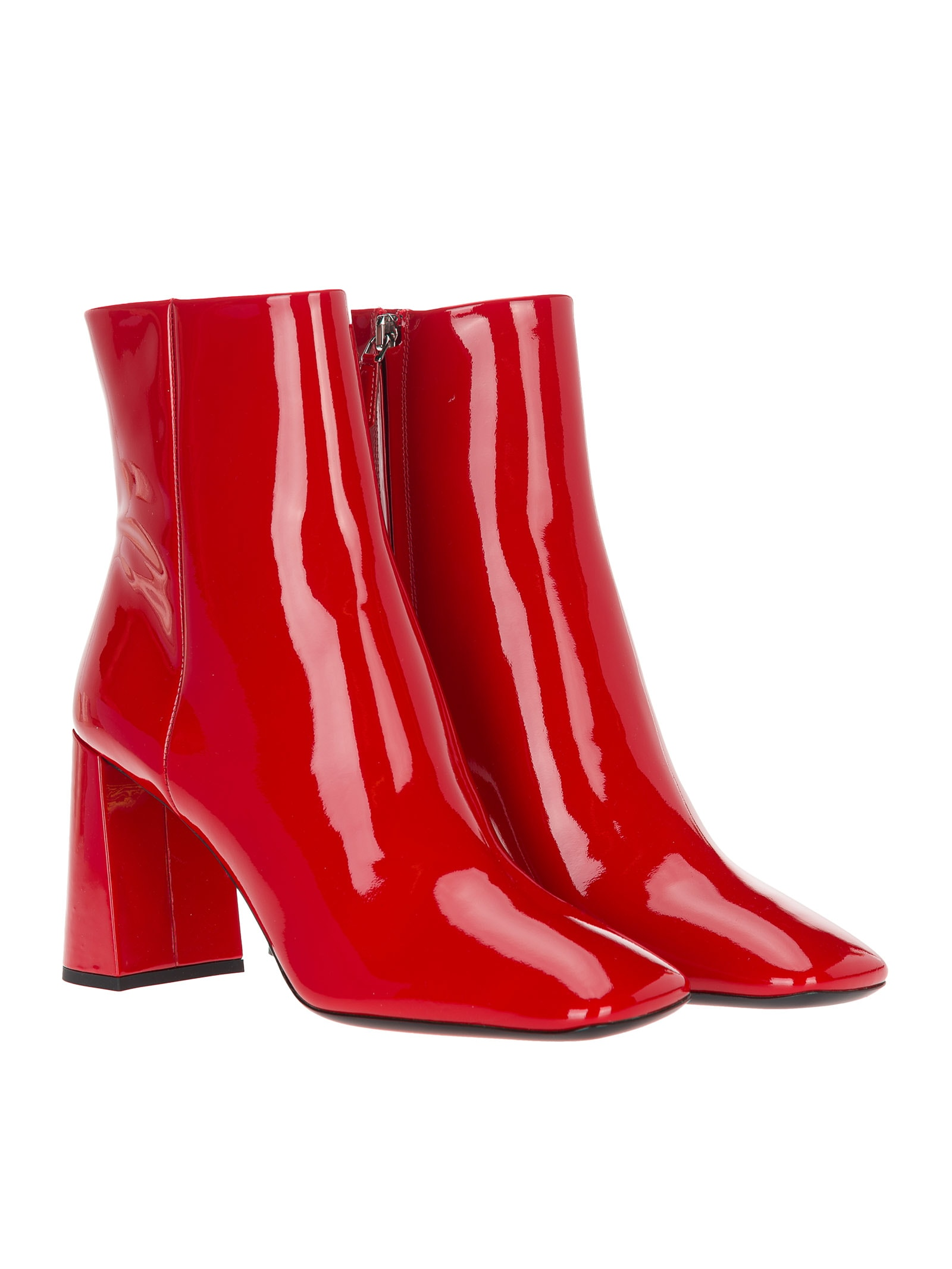 Prada Prada Patent Leather Ankle Boots