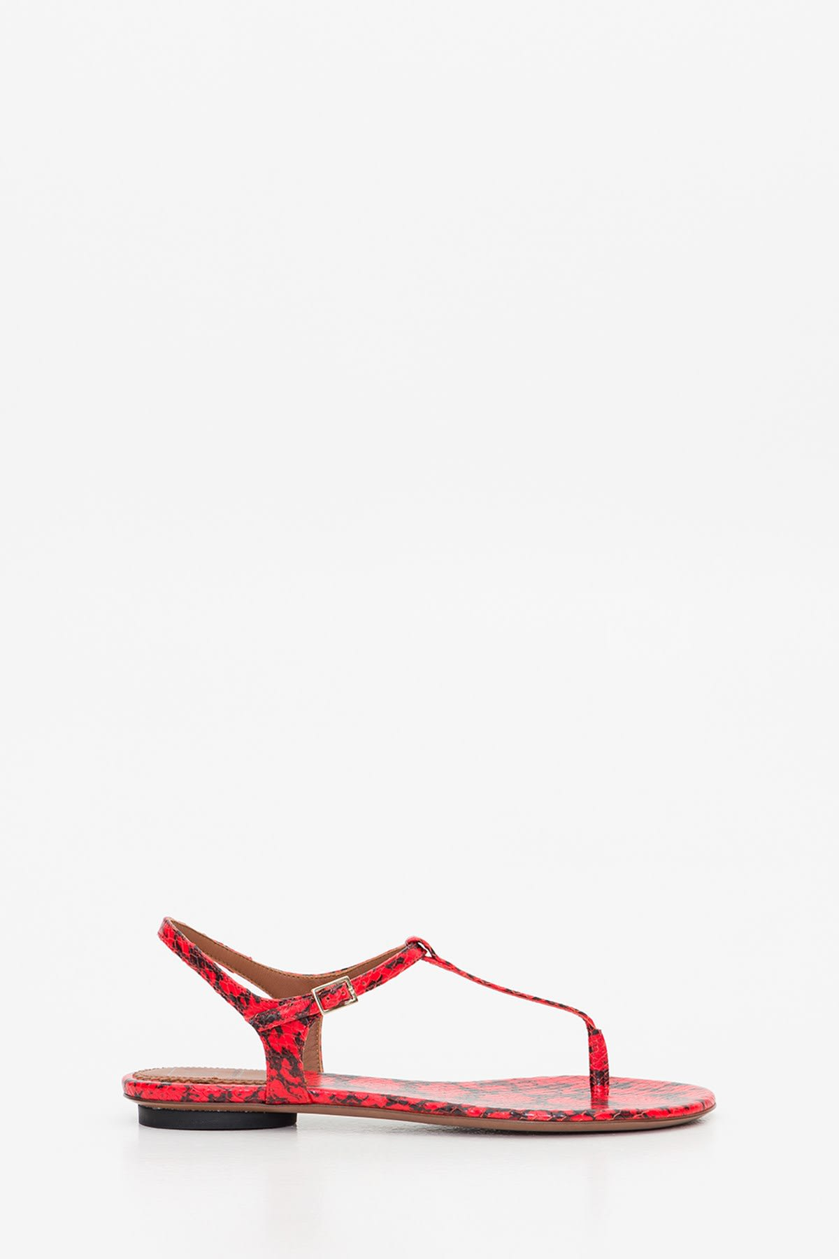 LAutre Chose Sandal In Python Embossed Leather