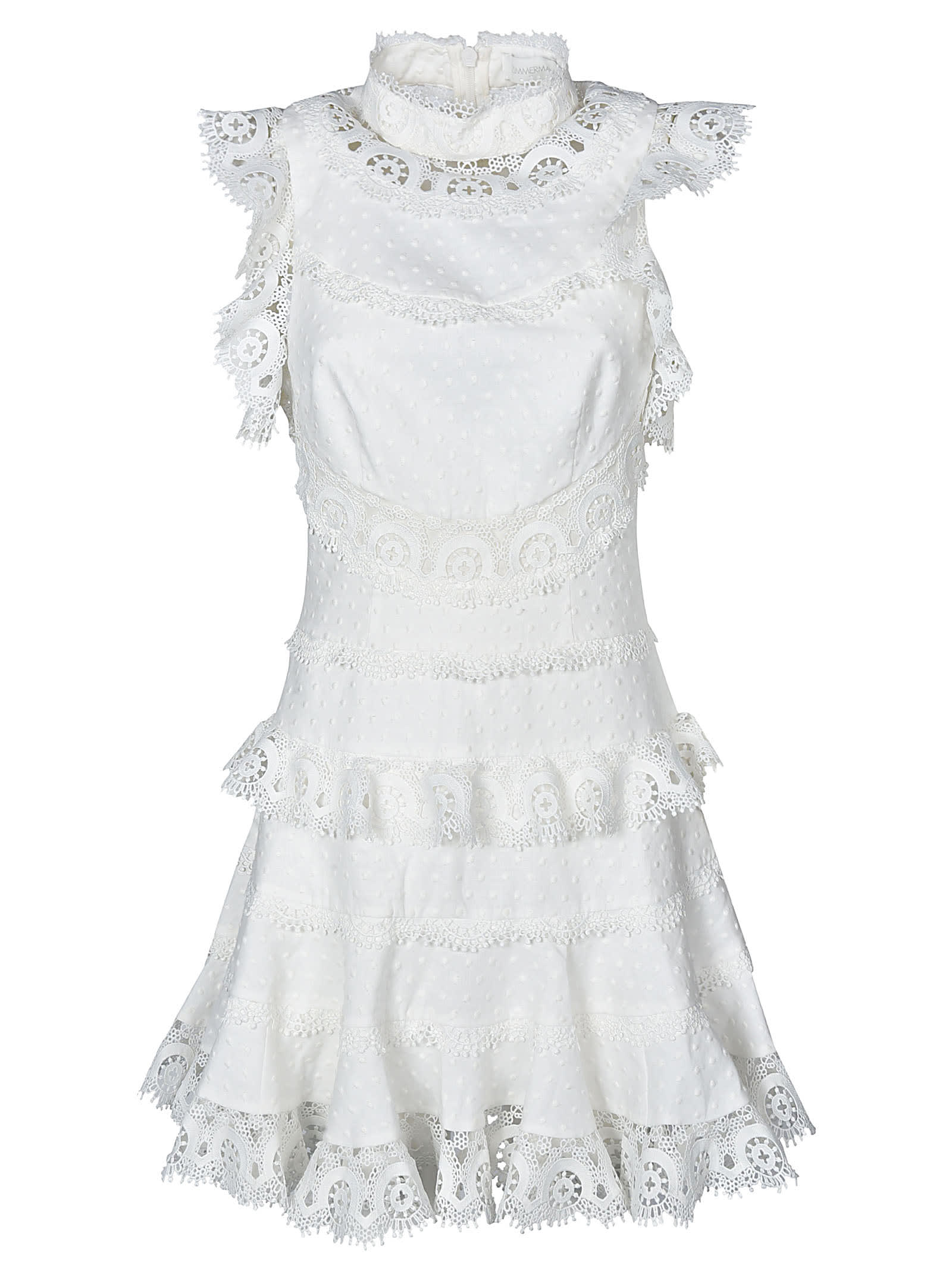 Buy Zimmermann Sleeveless Laced Dress online, shop Zimmermann with free shipping