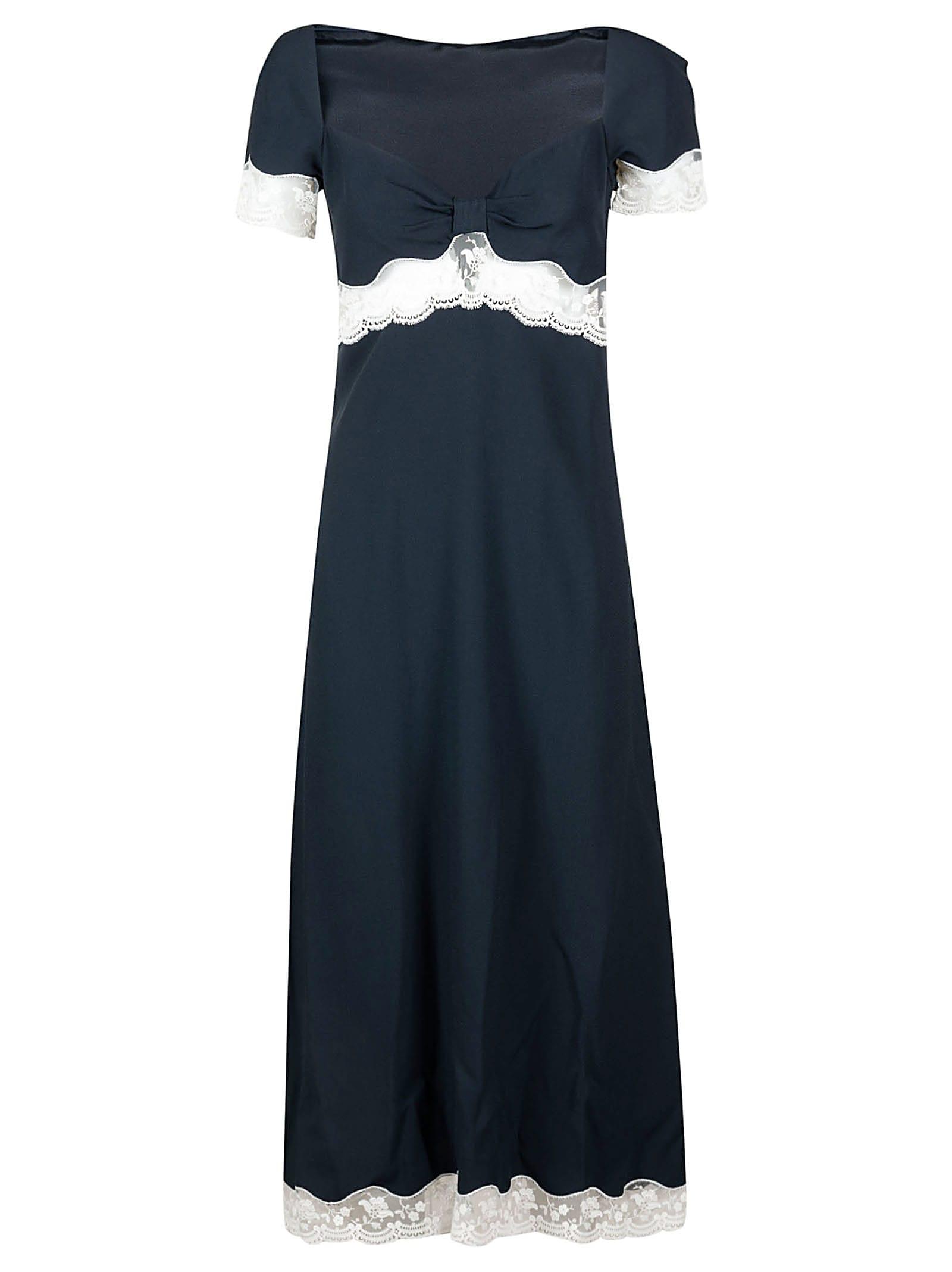 Buy Laced Detail Maxi Dress online, shop Miu Miu with free shipping