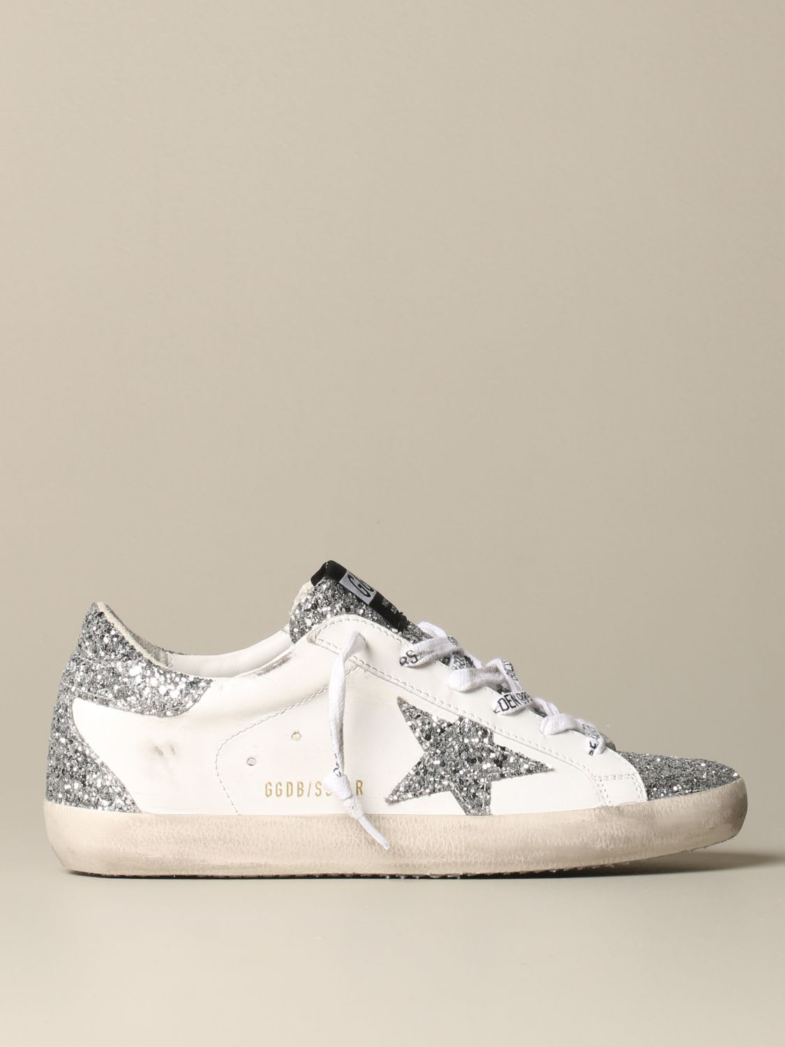 Golden Goose Sneakers Golden Goose Superstar Classic Sneakers In Leather And Glitter