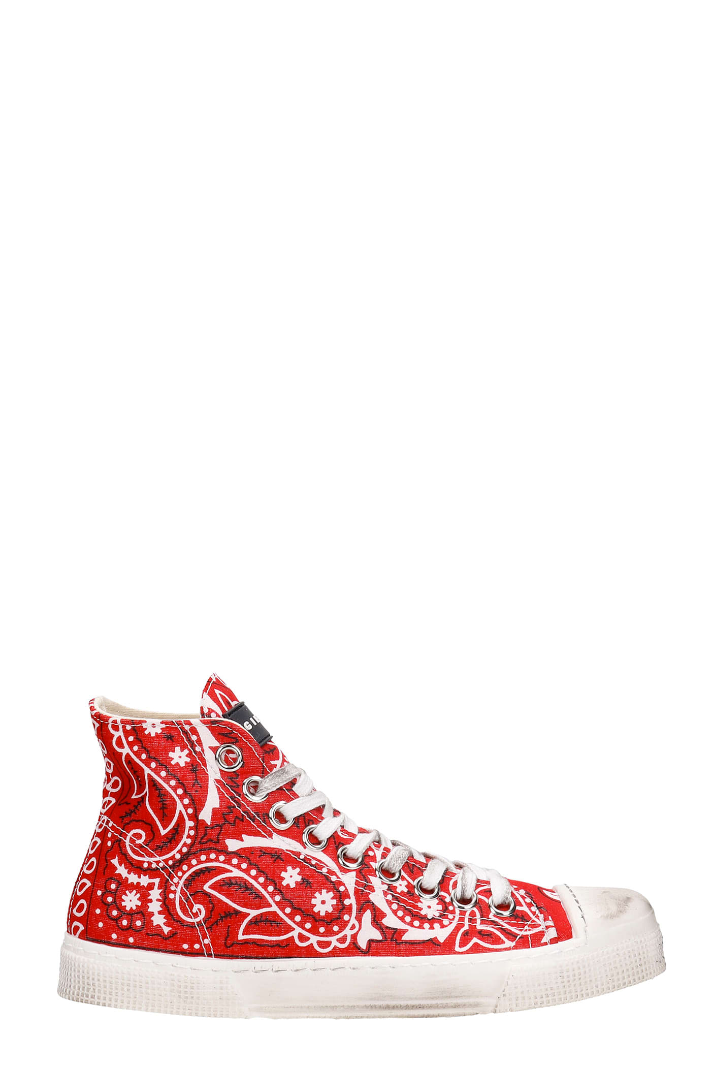 J.m High Sneakers In Red Synthetic Fibers