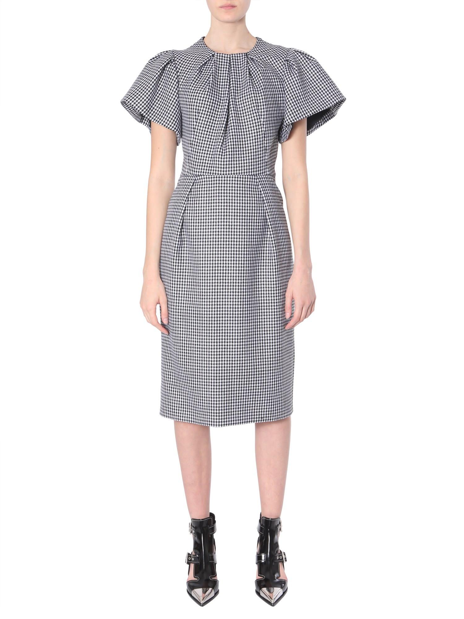 Alexander McQueen Pied-de-poule Midi Dress