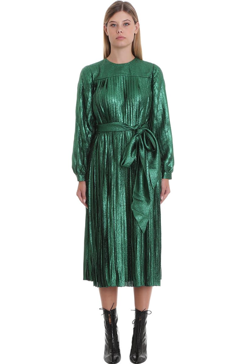 Marc Jacobs Dress In Green Silk