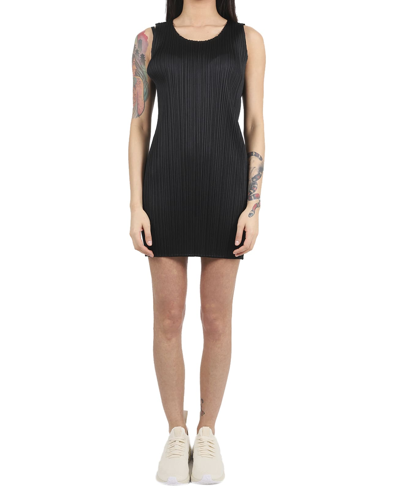 Buy Pleats Please Black Basic Dress online, shop Pleats Please Issey Miyake with free shipping