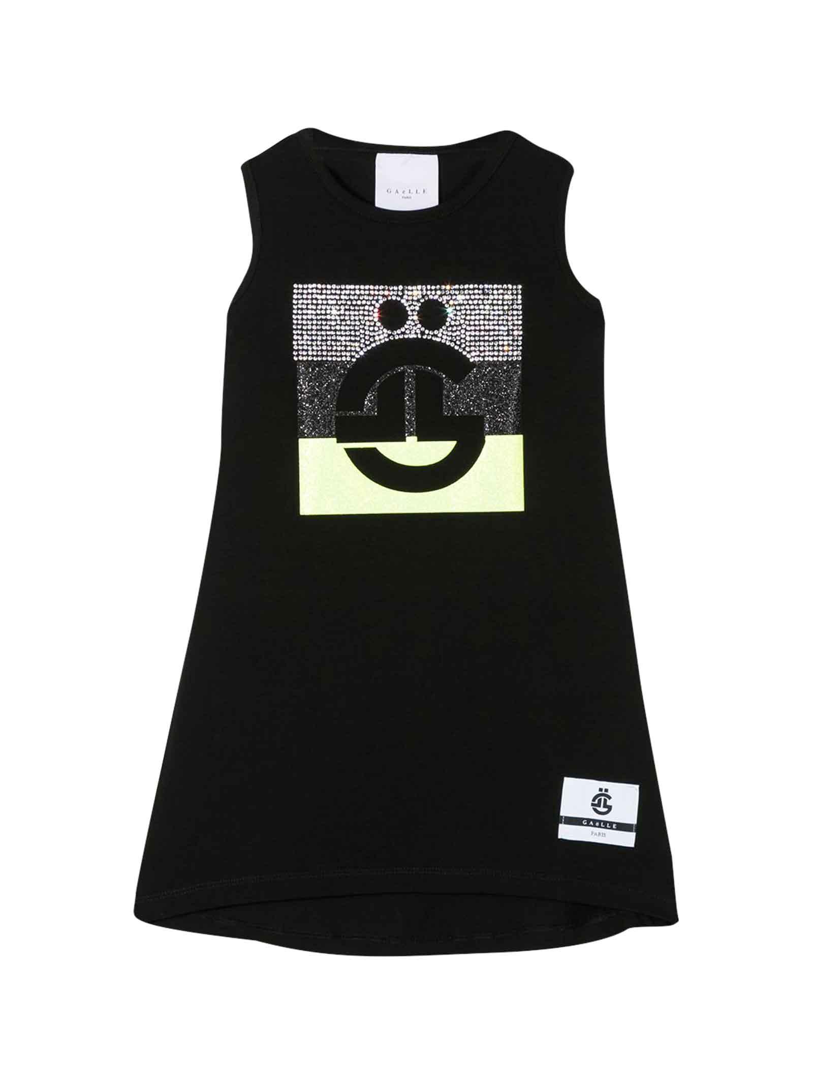 Buy Gaelle Bonheur Black Kids Sleeveless Dress online, shop Gaelle Bonheur with free shipping