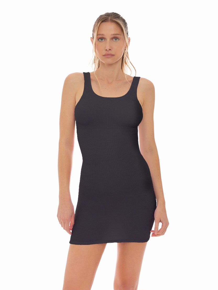 Buy Black Wrinkle Dress online, shop MC2 Saint Barth with free shipping