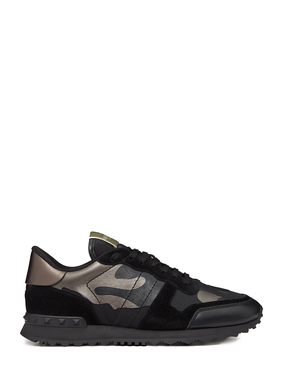 Valentino Garavani Sneaker Rockrunner Camouflage Noir
