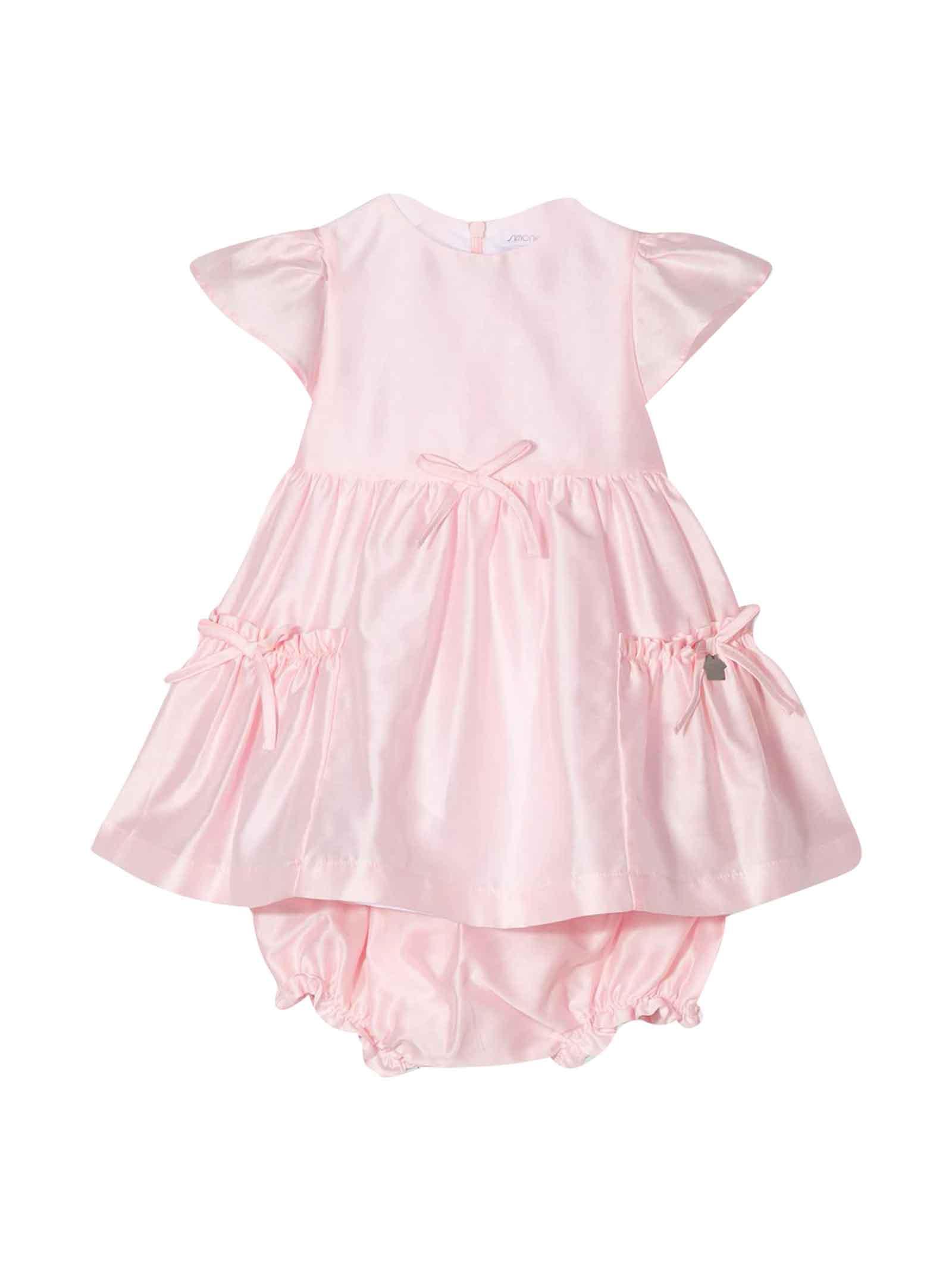Buy Simonetta Pink Dress With Ruffles online, shop Simonetta with free shipping