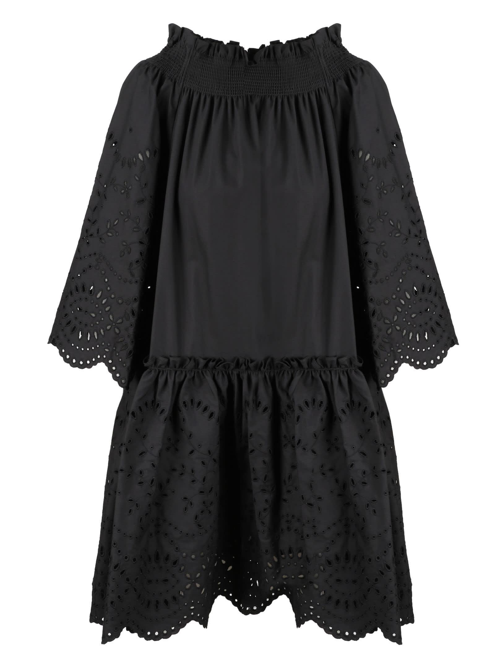 P.a.r.o.s.h. FLOUNCE POPLIN DRESS