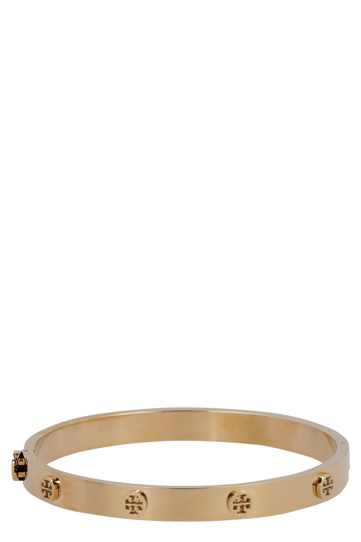 Tory Burch Kira Hinged Brass Bracelet