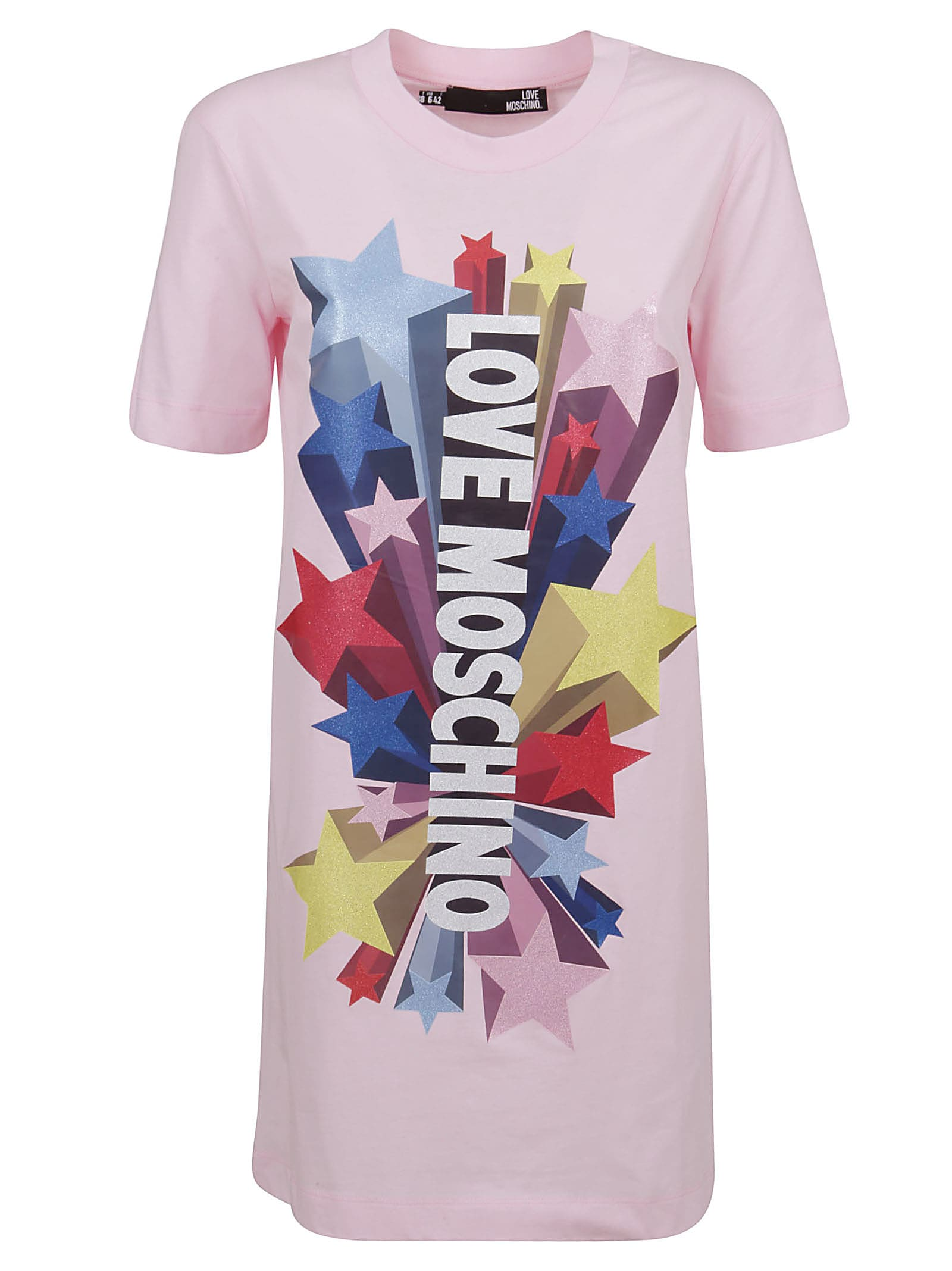 Buy Pink Cotton Dress online, shop Love Moschino with free shipping