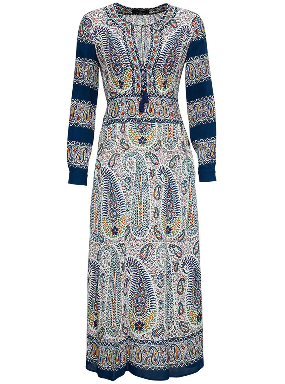 Etro LONG DRESS WITH PAISLEY MOSAIC PRINT