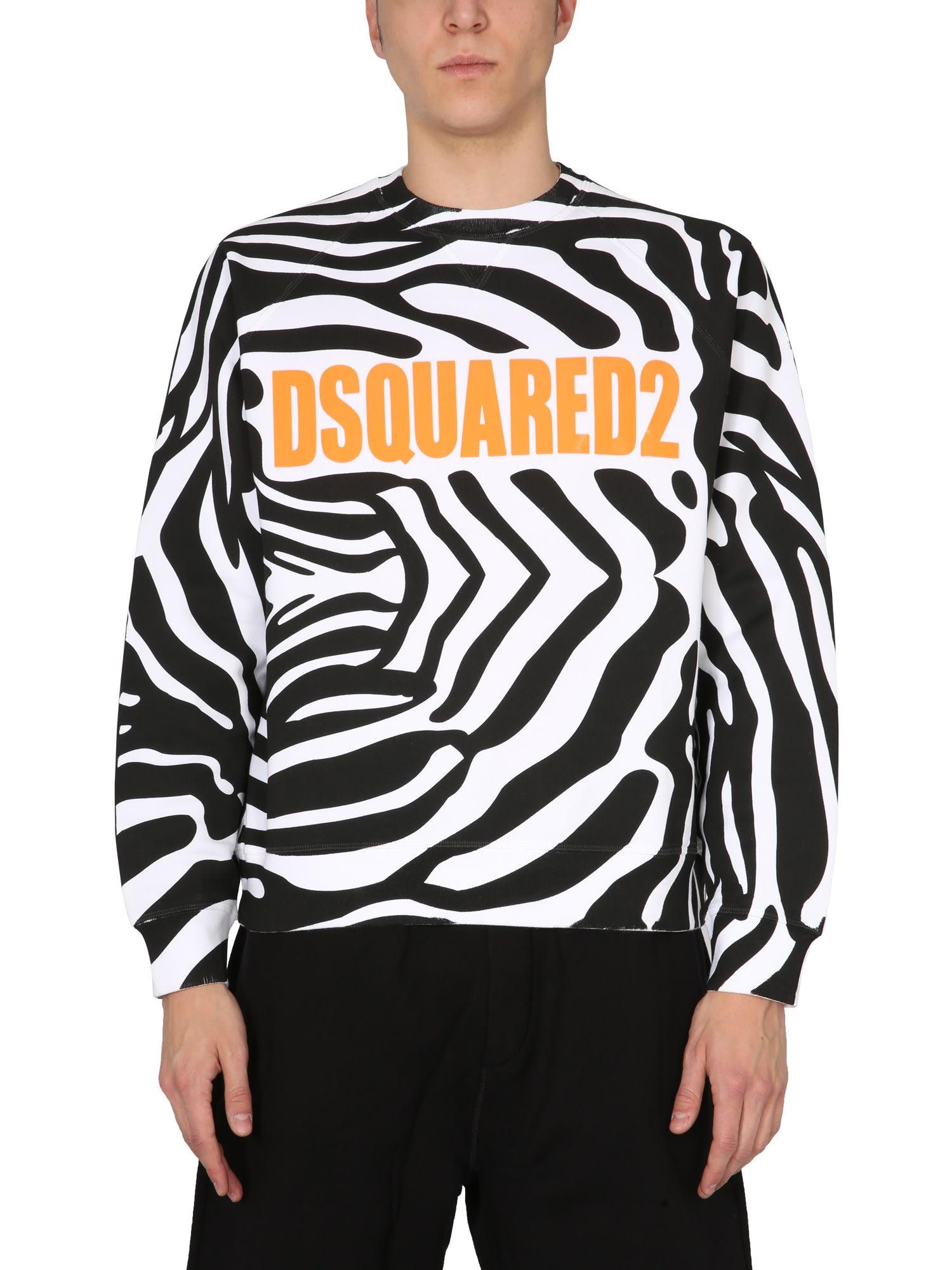 Dsquared2 Sweatshirts SWEATSHIRT WITH ZEBRA PRINT