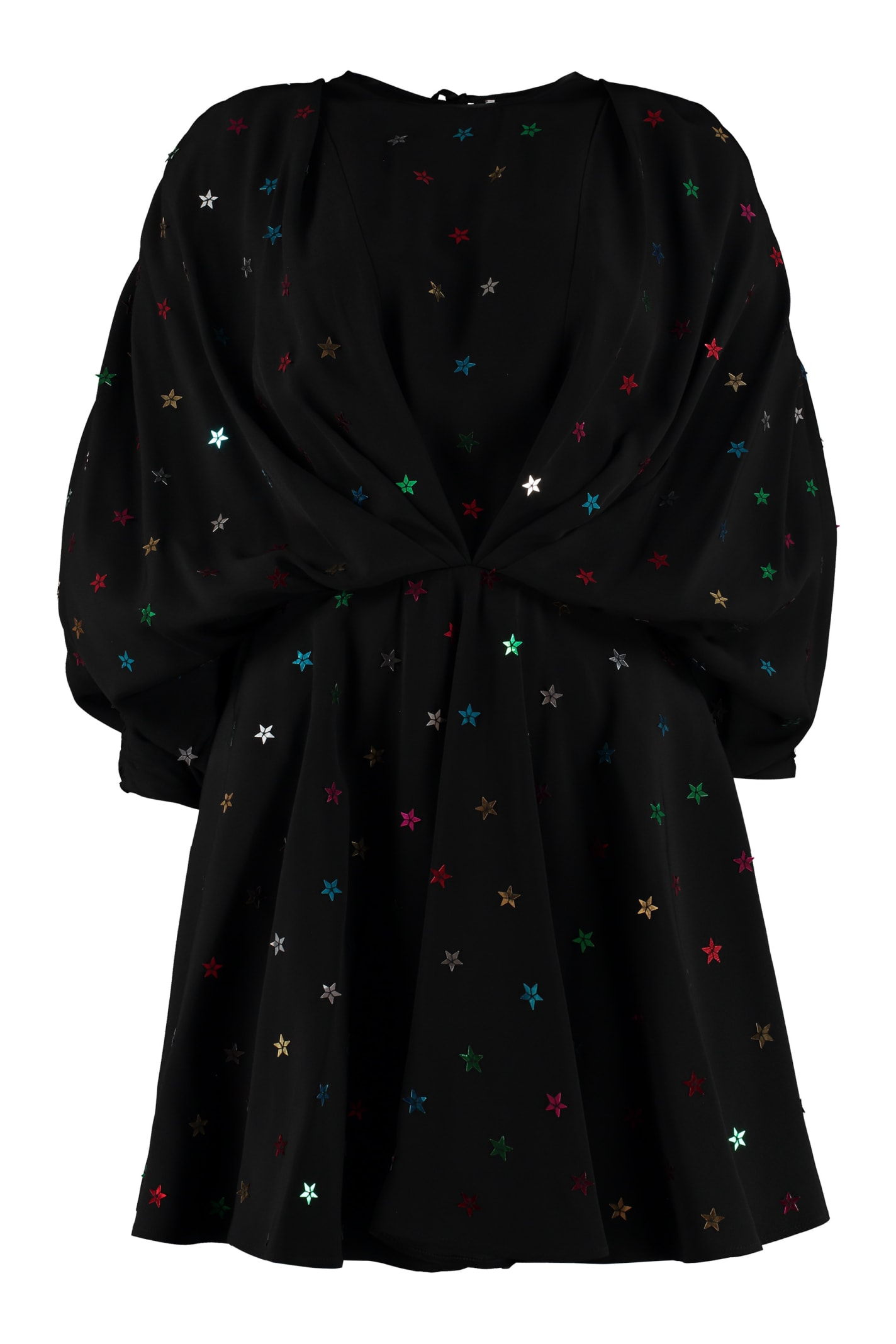 The Attico All Over Star Embroidered Dress
