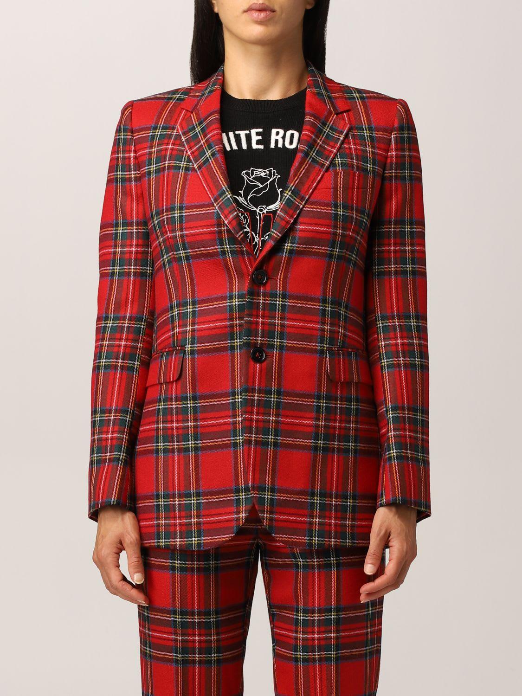 Red Valentino Blazer Red Valentino Tartan Wool Jacket