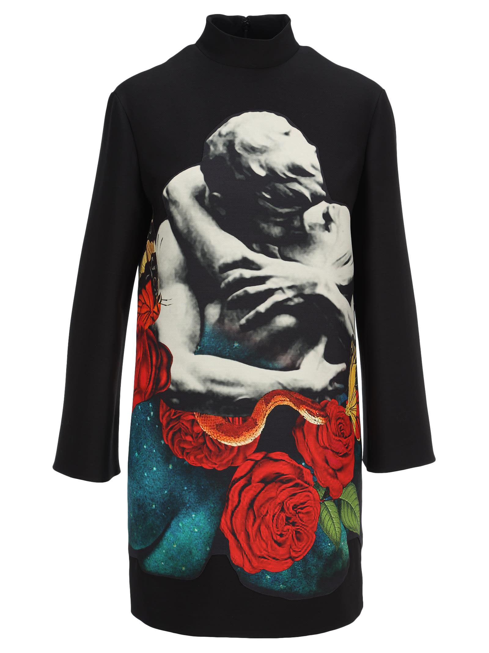 Valentino Lovers Print Dress