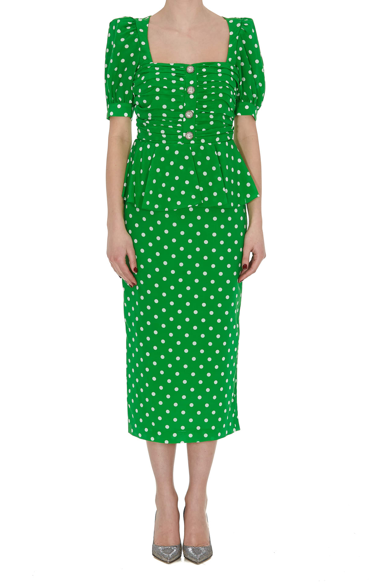 Buy Alessandra Rich Polka Dot Dress online, shop Alessandra Rich with free shipping