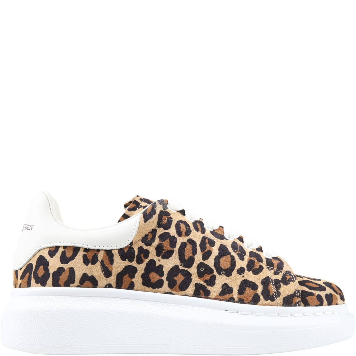 Buy Alexander McQueen Beige Sneakers For Girl With Logo online, shop Alexander McQueen shoes with free shipping