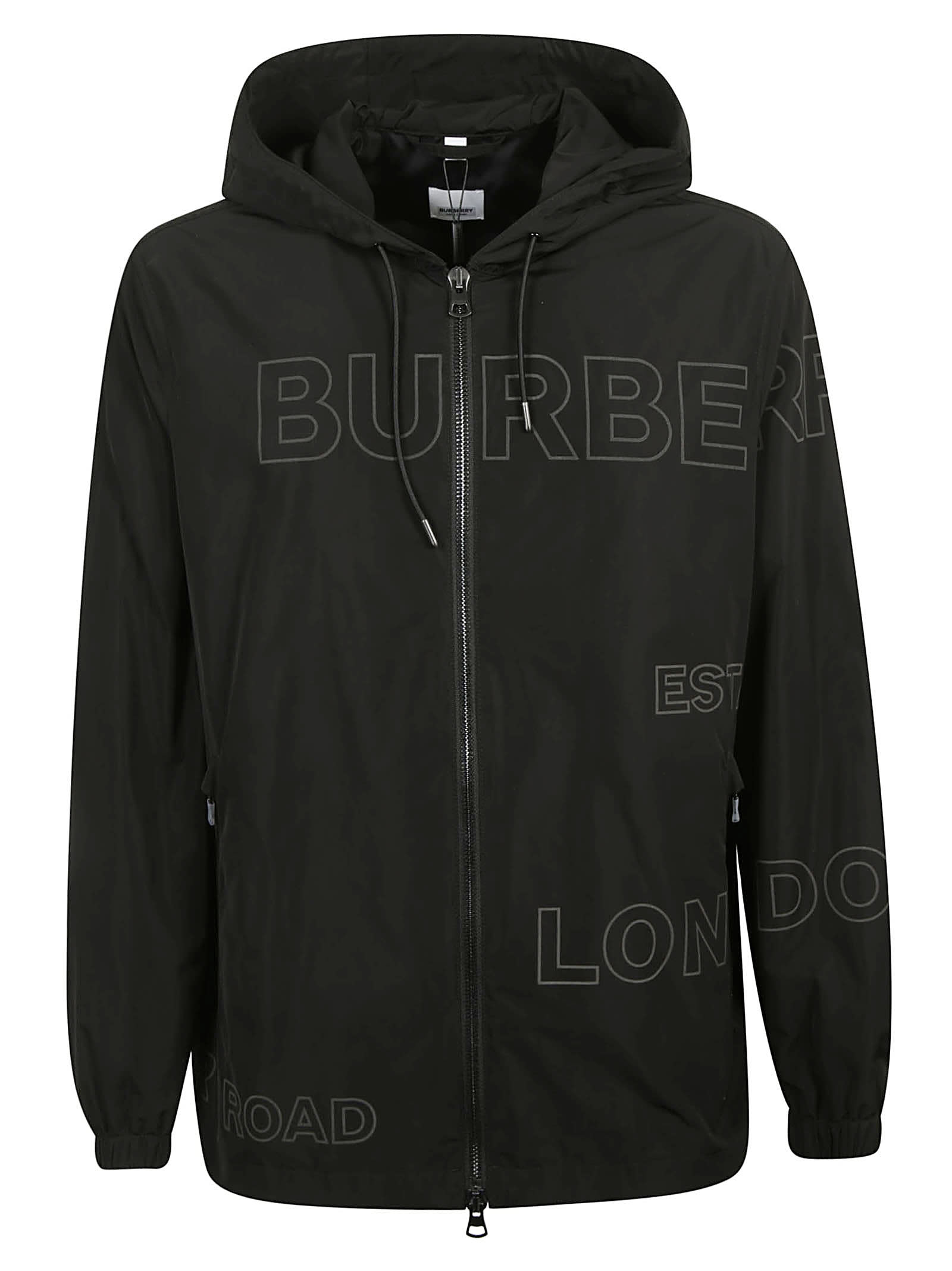 Burberry Logo Print Detail Windbreaker